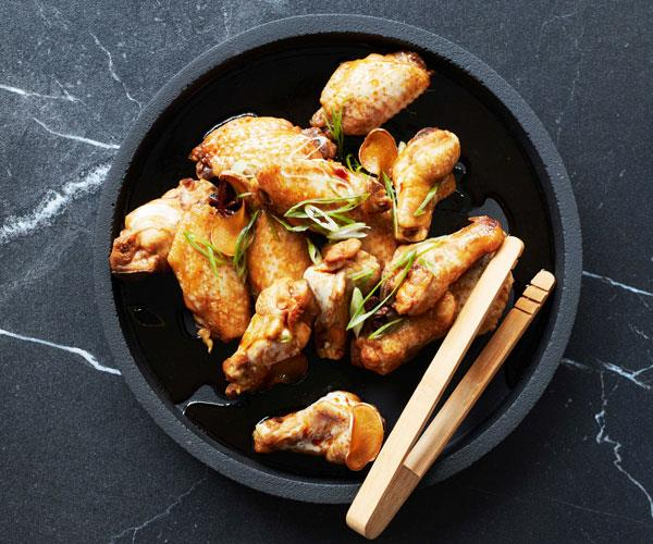 "**[Swiss chicken wings](https://www.gourmettraveller.com.au/recipes/fast-recipes/swiss-chicken-wings-recipe-17096|target=""_blank"")**"