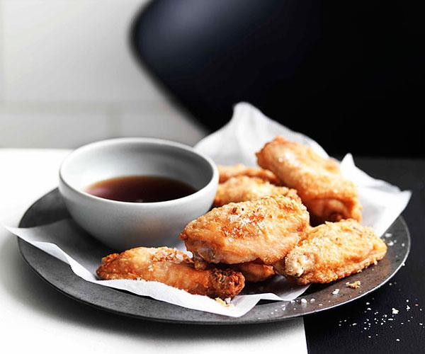 "**[Crisp chicken wings with fried shallots and red wine vinegar](https://www.gourmettraveller.com.au/recipes/browse-all/crisp-chicken-wings-with-fried-shallots-and-red-wine-vinegar-10737|target=""_blank"")**"