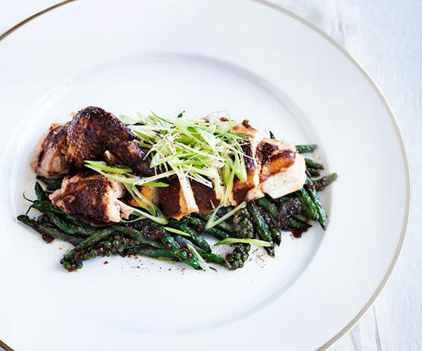 "**[Christine Manfield's soy-braised chicken with green bean sambal](http://www.gourmettraveller.com.au/recipes/chefs-recipes/christine-manfields-soy-braised-chicken-with-green-bean-sambal-8517|target=""_blank"")**"