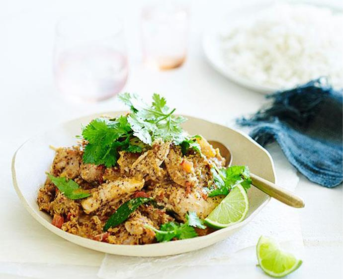 "[Quick Chettinad chicken masala](https://www.gourmettraveller.com.au/recipes/fast-recipes/quick-chettinad-chicken-masala-13447|target=""_blank"") <br><br> *Photo: John Paul Urizar*"