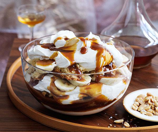 """[**Banana, brandy and butterscotch trifle**](https://www.gourmettraveller.com.au/recipes/browse-all/banana-brandy-and-butterscotch-trifle-13951