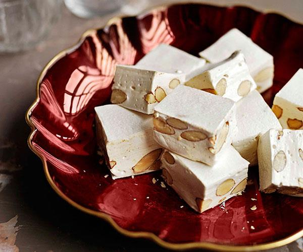 "[**Almond nougat**](https://www.gourmettraveller.com.au/recipes/browse-all/almond-nougat-11416|target=""_blank"")"