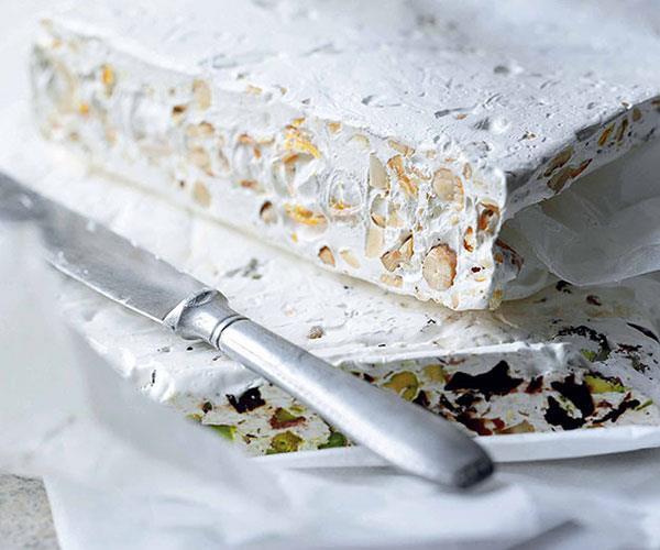 "[**Gaz pistachio-sour cherry nougat**](https://www.gourmettraveller.com.au/recipes/chefs-recipes/gaz-pistachio-sour-cherry-nougat-7502|target=""_blank"")"