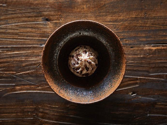 The shiitake soft-serve à la Amaru. *Photo: John Orourke*