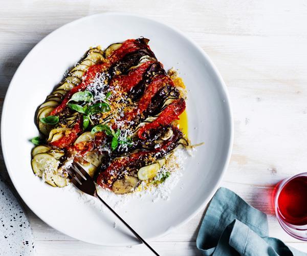 "**[Danielle Alvarez's summer vegetable tian](https://www.gourmettraveller.com.au/recipes/chefs-recipes/summer-vegetable-tian-16622|target=""_blank"")**"