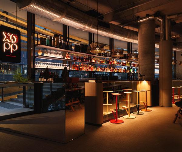 The bar area at XOPP.