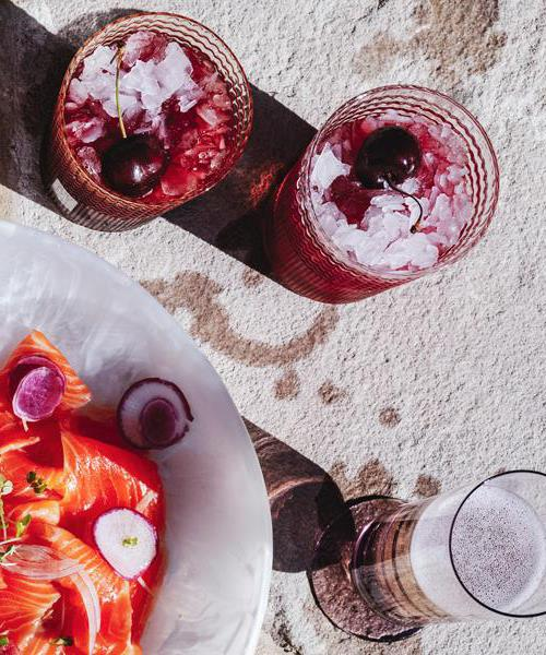 "**[Christmas Spritz](https://www.gourmettraveller.com.au/recipes/fast-recipes/christmas-spritz-16876|target=""_blank"")** Summer cherries and Lambrusco combine in a Spritz that screams Christmas in Australia."