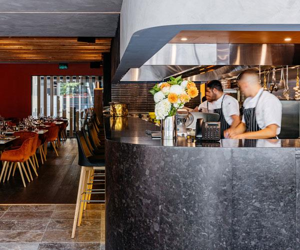 The open kitchen at Toppi Martin Place.