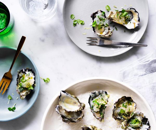 "**[Beau Clugston's grilled oysters with tapioca](https://www.gourmettraveller.com.au/recipes/chefs-recipes/grilled-oysters-with-tapioca-8600|target=""_blank"")**"