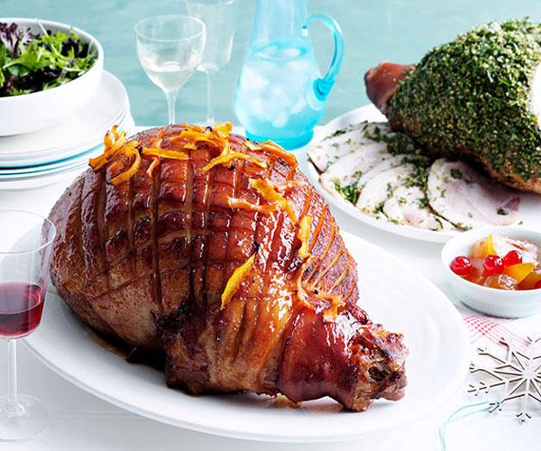 "[**Golden ale and honey-glazed easy-carve ham**](https://www.gourmettraveller.com.au/recipes/browse-all/golden-ale-and-honey-glazed-easy-carve-ham-10319|target=""_blank"")"