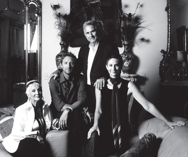 From left: Merivale, Justin, John and Bettina Hemmes.