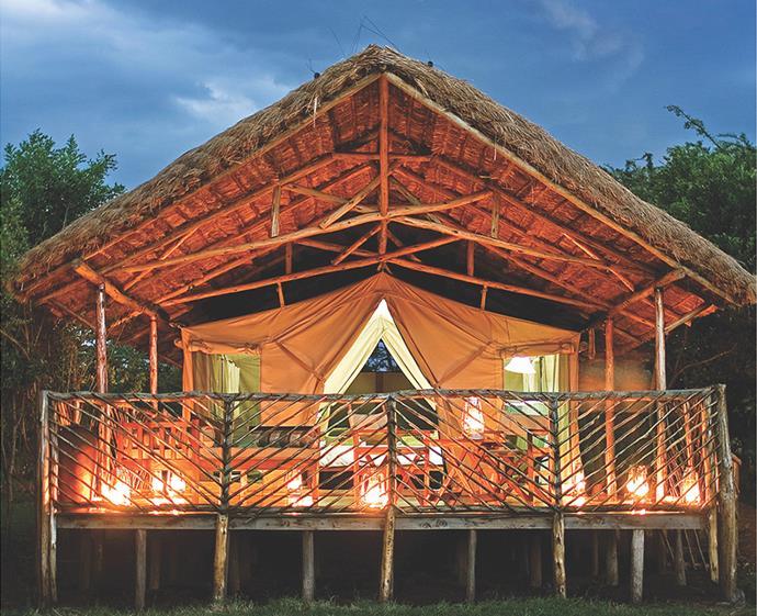 "Experience luxury amidst the African wilderness at Karen Blixen Camp. *Photo: [@aptouring](https://www.instagram.com/aptouring/|target=""_blank""|rel=""nofollow"")*"