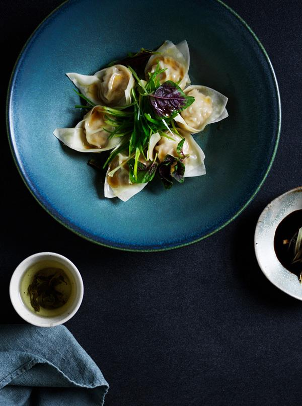 "**[Pork dumplings with black vinegar and ginger](https://www.gourmettraveller.com.au/recipes/browse-all/pork-ginger-dumplings-17767|target=""_blank"")**   **Recipe:** Lisa Featherby  **Styling:** Geraldine Muñoz **Photography:** Ben Dearnley **Magazine issue:** August 2019"