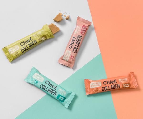 Collagen snacks by Chief Bars.