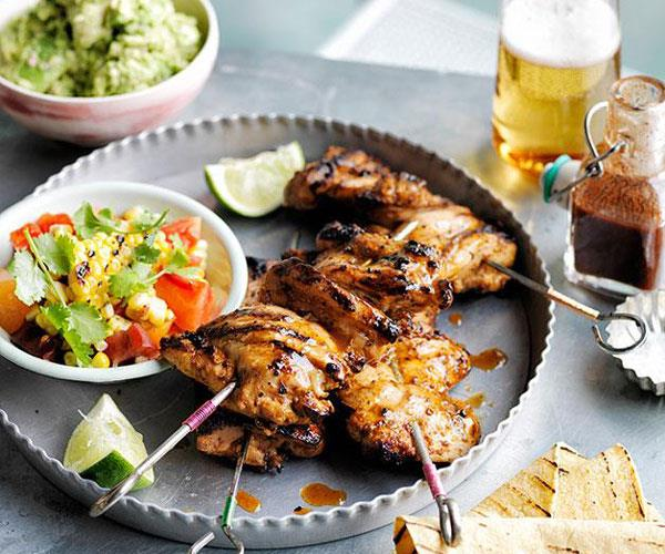 "**[Smoky chilli chicken with barbecued corn, crushed avocado and soft tacos](https://www.gourmettraveller.com.au/recipes/browse-all/smoky-chilli-chicken-with-barbecued-corn-crushed-avocado-and-soft-tacos-12162|target=""_blank"")**"
