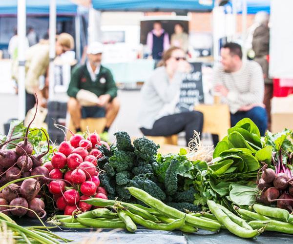 Fresh produce at the Harvest Launceston Community Farmers' Market.