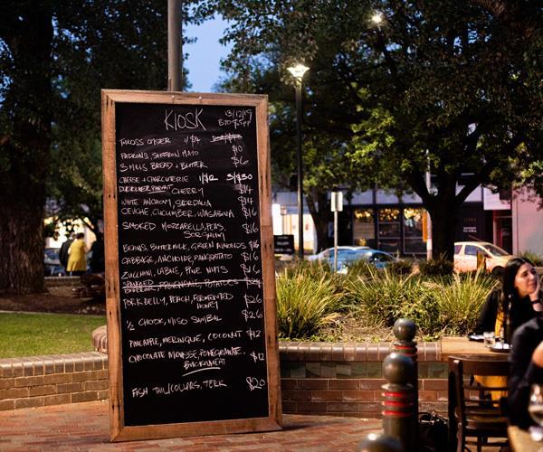 The blackboard menu.