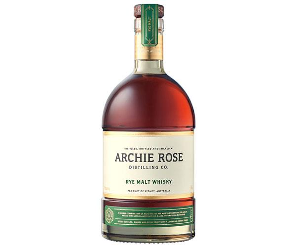 Archie Rose's rye malt whisky.