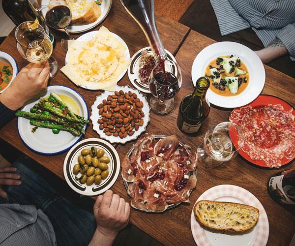 Dishes at Vinstukan.