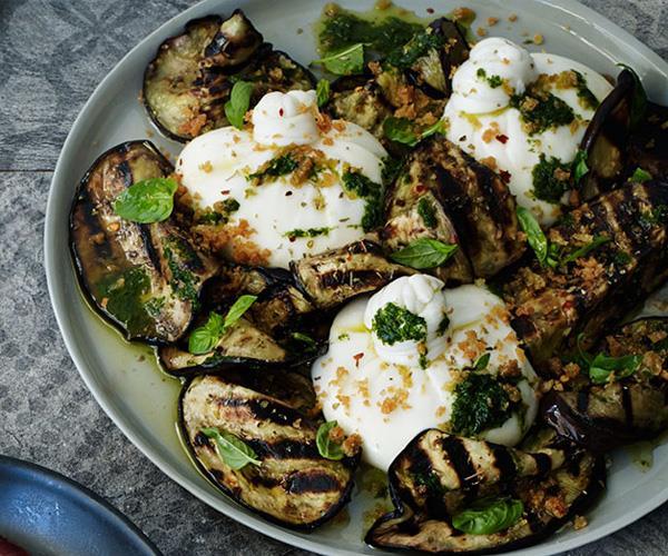 "[**Burrata with char-grilled eggplant**](http://www.gourmettraveller.com.au/recipes/chefs-recipes/burrata-with-char-grilled-eggplant-8229|target=""_blank"")"