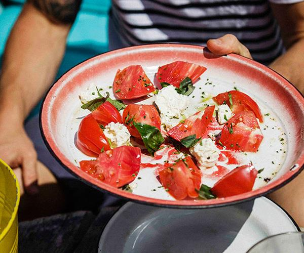 """[**Tomato salad with feta and basil**](https://www.gourmettraveller.com.au/recipes/browse-all/tomato-salad-with-feta-and-basil-11597