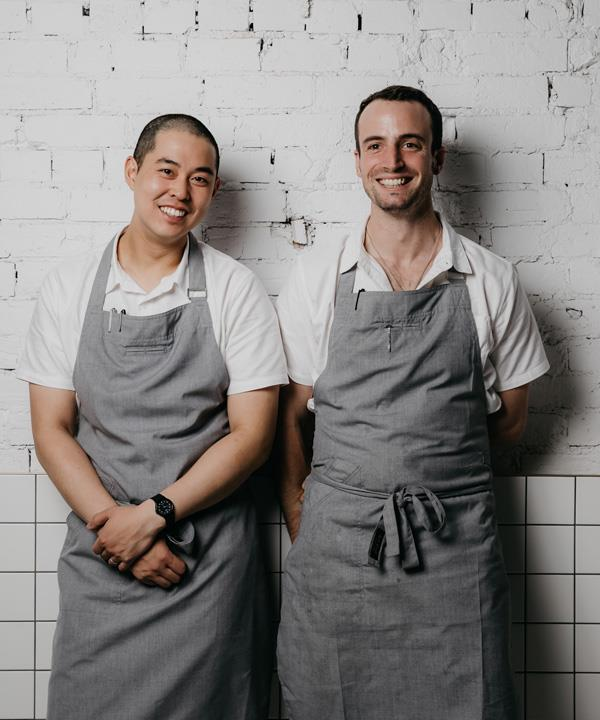Chefs Keat Lee and Ned Trumble.