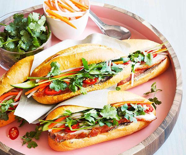 "**[Pork banh mi](https://www.gourmettraveller.com.au/recipes/browse-all/pork-banh-mi-8793 target=""_blank"")**"