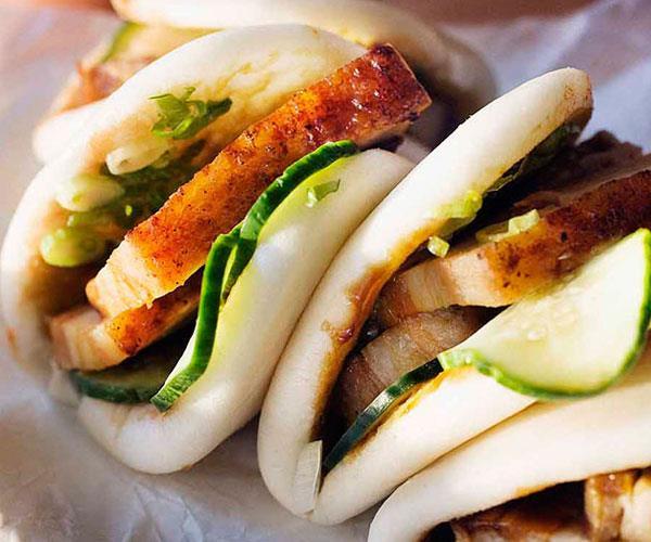 """**[Momofuku's pork buns](https://www.gourmettraveller.com.au/recipes/chefs-recipes/momofukus-pork-buns-7594 target=""""_blank"""")**"""