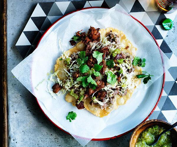 """[**Oaxacan-style tlayudas**](https://www.gourmettraveller.com.au/recipes/browse-all/oaxacan-style-tlayudas-12553 target=""""_blank"""")"""