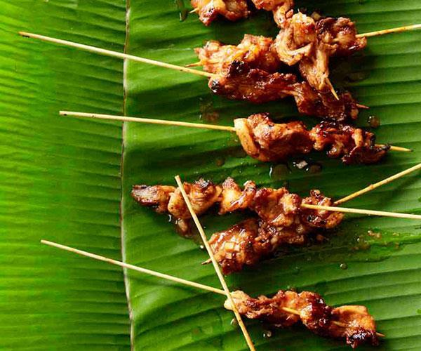 """[**Barbecued pork belly skewers**](https://www.gourmettraveller.com.au/recipes/browse-all/barbecued-pork-belly-skewers-11234 target=""""_blank"""")"""