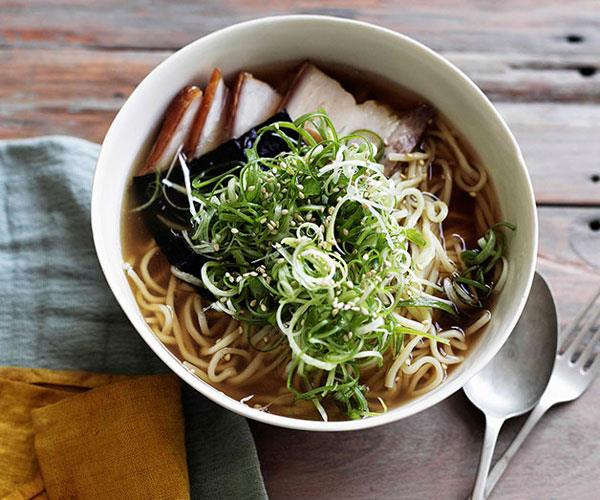 "[**Ramen with roast pork belly, nori and spring onion**](https://www.gourmettraveller.com.au/recipes/browse-all/ramen-with-roast-pork-belly-nori-and-spring-onion-10820|target=""_blank"")"