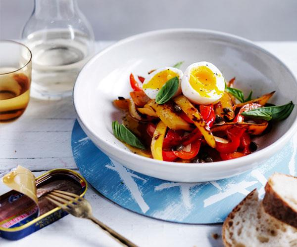 "**[Peppers and eggs](https://www.gourmettraveller.com.au/recipes/browse-all/peppers-and-eggs-12459|target=""_blank"")**"