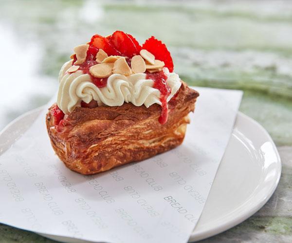 Strawberry Melba croissant.
