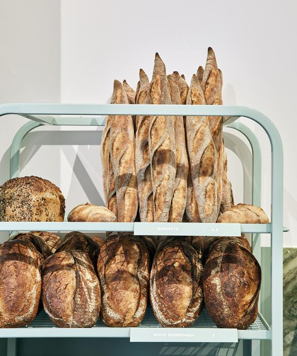 Loaves and baguettes.