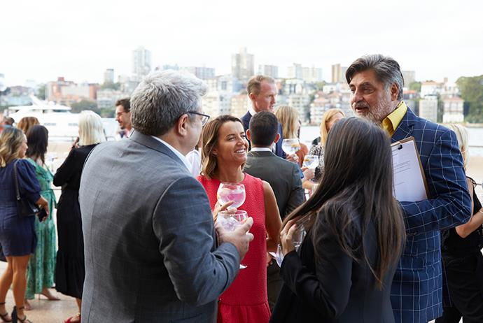 Matt Preston chatted with guests outside the Sydney Opera House before sitting down to dinner.