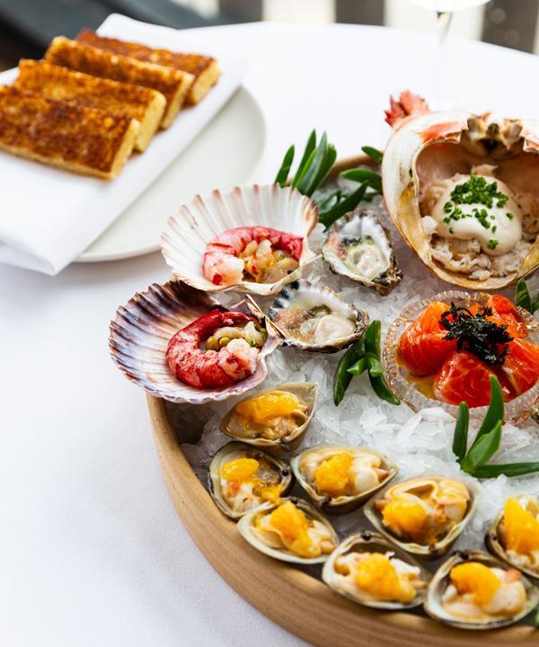 Australian seafood platter.