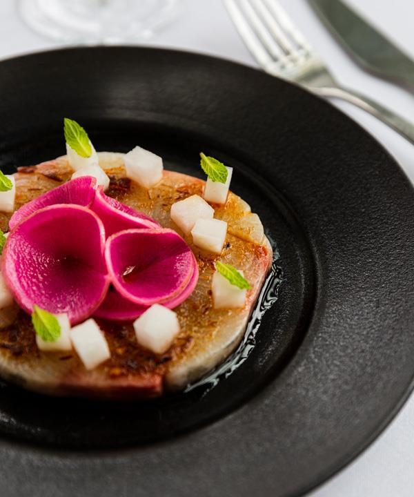 Hiramasa kingfish, housemade XO sauce, pickled radish.