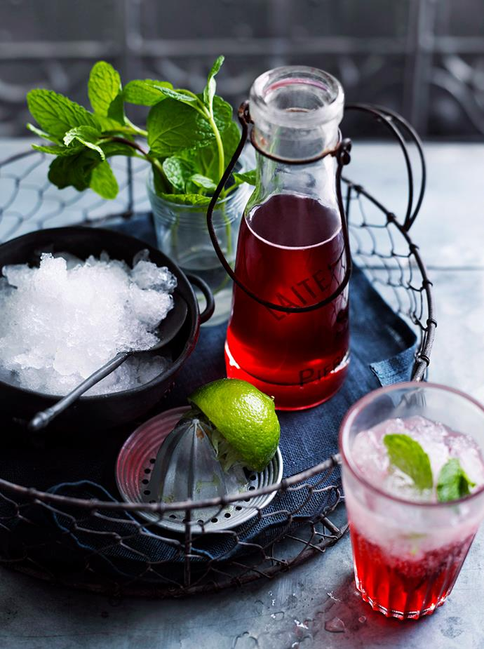 """[**Sparkling Strawberry Crush**](https://www.gourmettraveller.com.au/recipes/browse-all/sparkling-strawberry-crush-10360