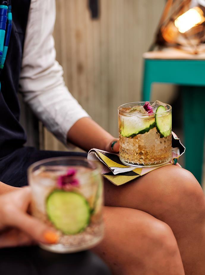 "[**Elderflower gin and tonic**](https://www.gourmettraveller.com.au/recipes/browse-all/elderflower-g-and-t-11800|target=""_blank"") <br> *Photo: Chris Court*"