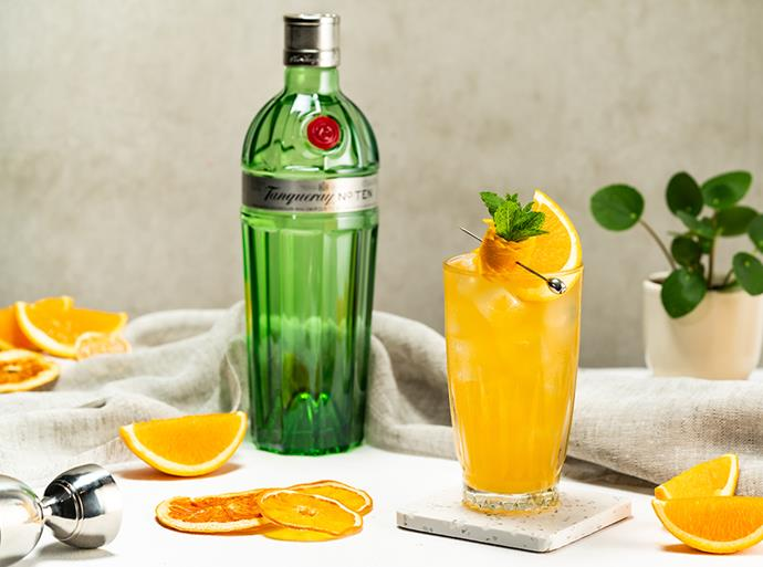 """[**Fragrant Sweet Tanqueray No Ten Gin Fizz**](https://www.gourmettraveller.com.au/recipes/fast-recipes/fragrant-sweet-tanqueray-no-ten-gin-fizz-18459