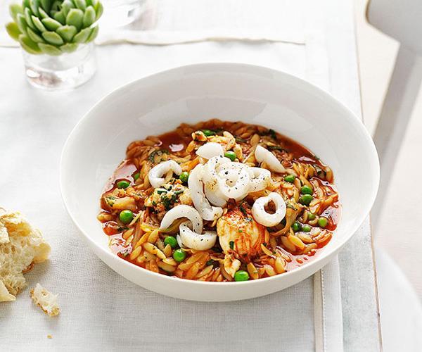 "**[Moreton Bay bug, cuttlefish and orzo saffron broth](https://www.gourmettraveller.com.au/recipes/chefs-recipes/moreton-bay-bug-cuttlefish-and-orzo-saffron-broth-8849|target=""_blank""|rel=""nofollow"")**"