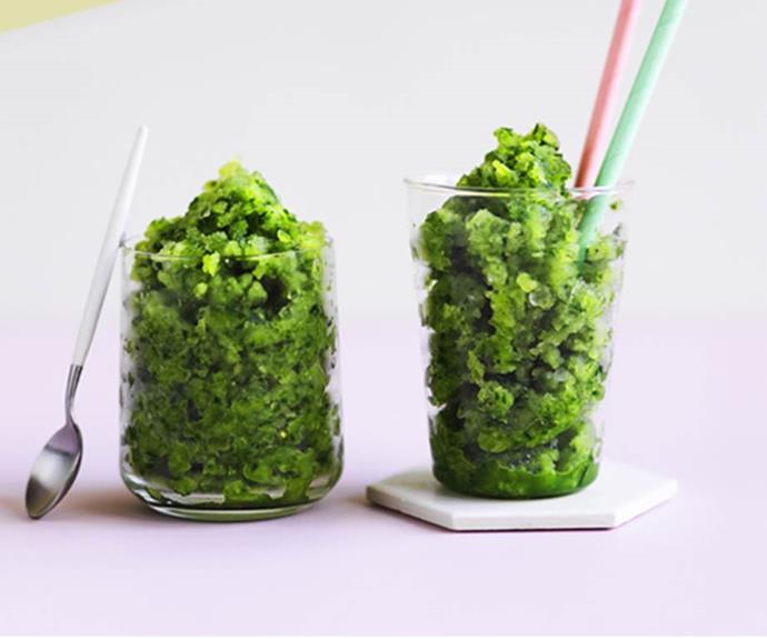 "[**Cucumber-gin slushie**](https://www.gourmettraveller.com.au/recipes/browse-all/cucumber-gin-slushie-12948|target=""_blank"") <br> *Photo: Ben Dearnley*"