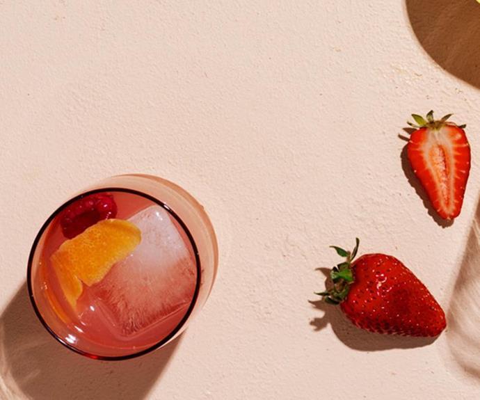 "[**Rosé Spritz**](https://www.gourmettraveller.com.au/recipes/browse-all/rose-spritz-18280|target=""_blank"") <br> *Photo: Ben Dearnley*"