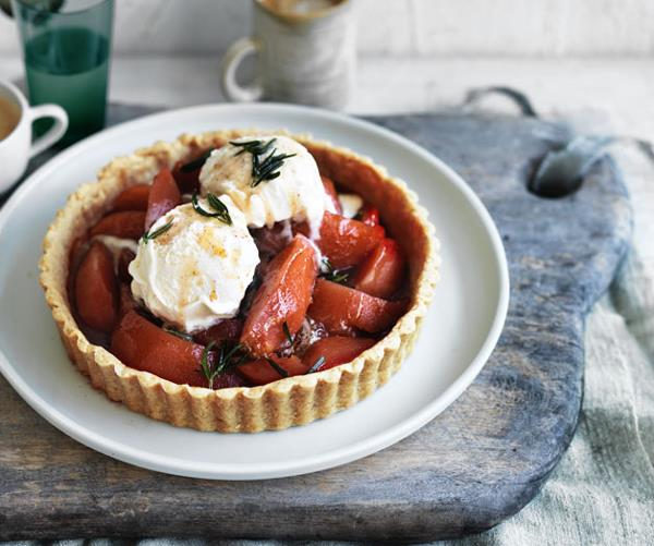 """**[Quince and brown butter pastry tart](http://www.gourmettraveller.com.au/recipes/browse-all/quince-and-brown-butter-pastry-tart-12813