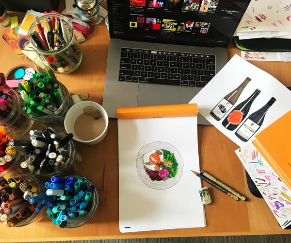 "A ""crap drawing"" work in progress."