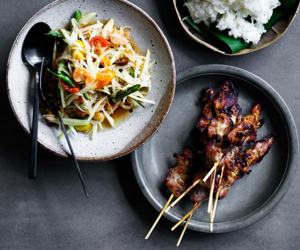 "**[David Thompson's grilled pork skewers](https://www.gourmettraveller.com.au/recipes/chefs-recipes/david-thompsons-grilled-pork-skewers-8471|target=""_blank""