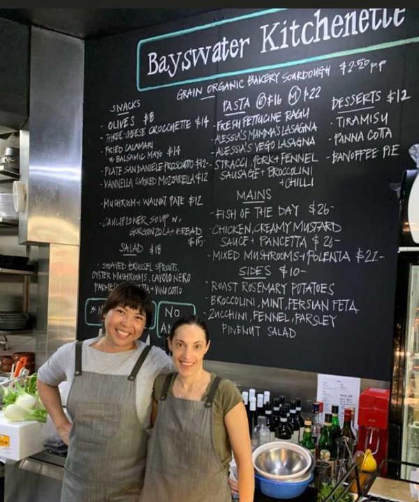 Bayswater Kitchenette chefs and co-owners Glenda Lau and Alessia Bottini.