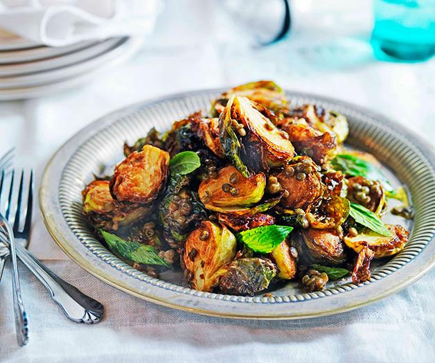 "[**Crisp Brussels sprouts with lentils**](https://www.gourmettraveller.com.au/recipes/chefs-recipes/crisp-brussels-sprouts-with-lentils-7478|target=""_blank""