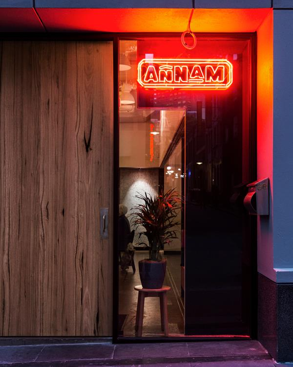 The entrance to Annam in Melbourne's CBD.
