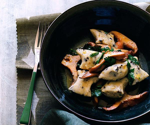 """**[Olive gnocchi with pine mushrooms](https://www.gourmettraveller.com.au/recipes/browse-all/olive-gnocchi-with-pine-mushrooms-10138 target=""""_blank"""")**"""